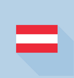 austria flag in official proportions vector image
