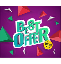 best offer 3d text vector image