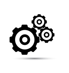 Black gearwheel mechanism in vector image