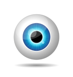 Blue Eye on White Background vector image