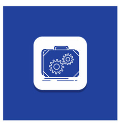 blue round button for briefcase case production vector image
