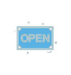 card open shop icon design vector image