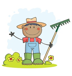 Cartoon farmer vector