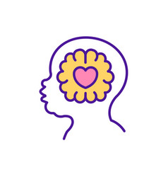 Child emotional intelligence rgb color icon vector