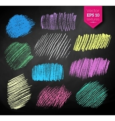 Color chalked hatching vector