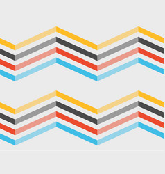 Color zigzag lines seamless pattern vector