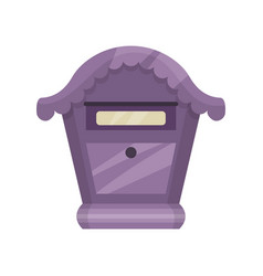 cute purple mailbox for letters and newspapers vector image
