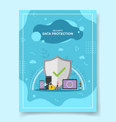 data protection for security concept for template vector image