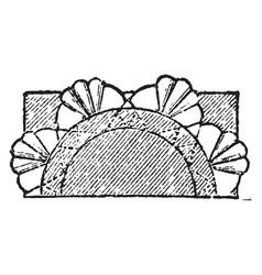 decorative column interior and exterior vintage vector image