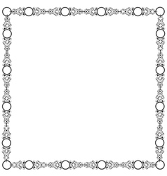 Decorative elegant frame vector