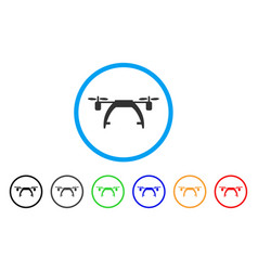 drone carrier rounded icon vector image