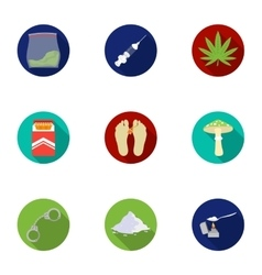 Drugs set icons in flat style Big collection of vector image
