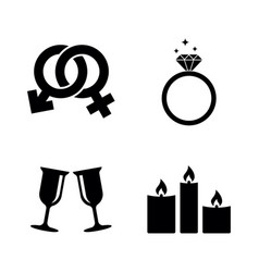 engagement simple related icons vector image