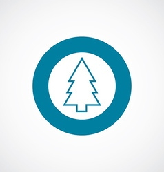 Fir-tree icon bold blue circle border vector