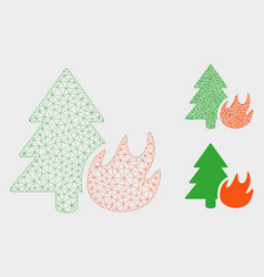 Forest fire mesh 2d model and triangle vector
