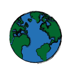 Global world earth map round vector