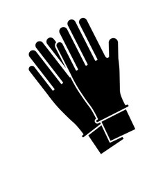 gloves accessory icon vector image
