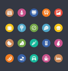 Glyphs Colored Icons 35 vector