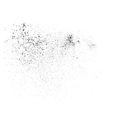 Grainy texture on a white vector image
