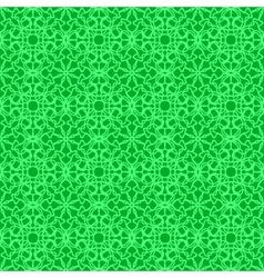 Green Ornamental Seamless Line Pattern vector image