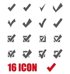 grey confirm icon set vector image