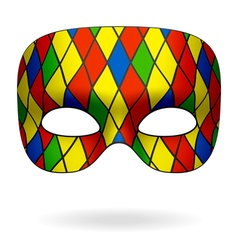 Harlequin mask vector