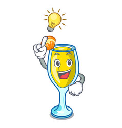 Have an idea mimosa mascot cartoon style vector
