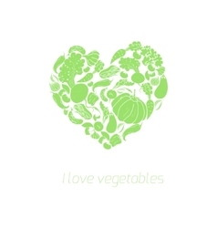 Heart vegetables food vector image