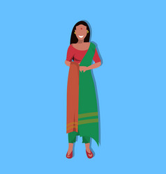 indian woman bindi standing in national vector image