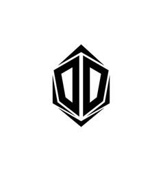 initial dd logo design initial dd logo design vector image