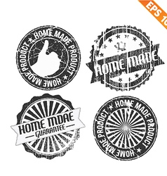 Label stitch sticker tag handmade - - EPS10 vector image