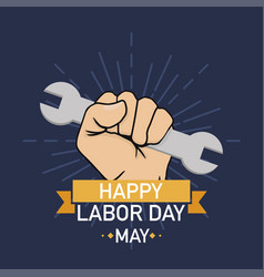 labor day poster happy labour day may celebration vector image