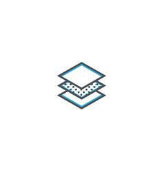 layers icon design essential icon vector image