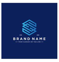 Letter sh colorful logo design vector
