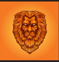 Lion head logo esport mascot vector