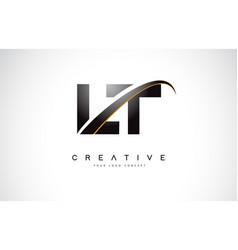 Lt l t swoosh letter logo design with modern vector