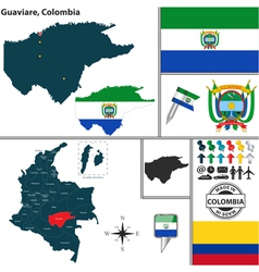 Map of Guaviare vector