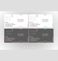 Minimalistic business card templates set vector