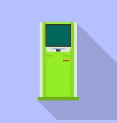 Modern info kiosk icon flat style vector