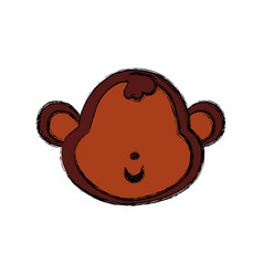 monkey cartoon drawing head faceless vector image