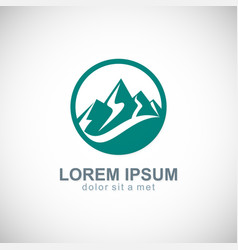 mountain icon logo vector image