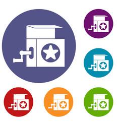 music box icons set vector image