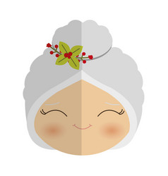 Old woman cartoon icon vector