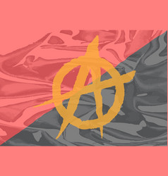 red and black anarchy flag vector image