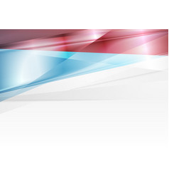 Red and blue abstract glossy modern background vector