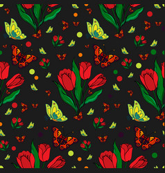 seamless repeating pattern with colorful vector image