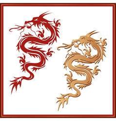 Set of dragons - symbol of oriental culture vector