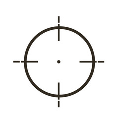 Sight icon in flat style gray color white vector