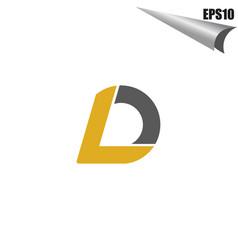 simple ld initial monogram design template vector image