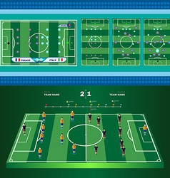 Soccer Game Strategies vector image